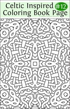 Celtic Coloring Page 10 Color Coloring Pages Adult