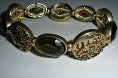 Vintage Gold Toned Bracelet  Abstract Semi by PaintedDesignsByLona,
