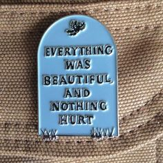 """Inspired by everyone's favorite Kurt Vonnegut book!1.5"""" soft enamel pinLimited quantity of 100"""