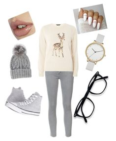 """""""deer gray"""" by omatola-gordon-rose on Polyvore featuring Mother, Dorothy Perkins, Converse, Eugenia Kim and Skagen"""