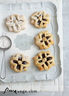Joulutorttu / Finnish Christmas Pastries Recipe (Pure Vegetarian), puff pastry filled with prune jam, instructions on shaping the pastry as small flowers, recipe link in paragraph under shaping illustration Christmas Sweets, Christmas Baking, Christmas Time, Xmas, Christmas Dishes, Christmas Stuff, Holiday Fun, Christmas Ideas, Cute Food
