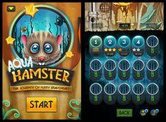 Aquahamster (Iphone game) by Anton Mangevicius, via Behance