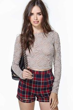 Adelina Lace Crop Top by Divonsir Borges