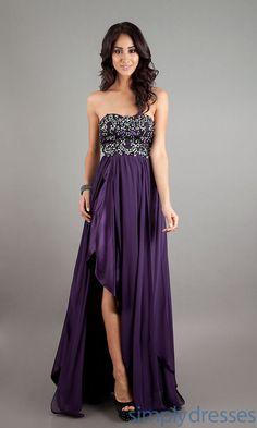 PLUM DRESSES   Strapless Silver Long Dress, Long Formal Dresses - Simply Dresses