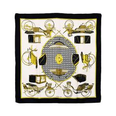 Beautiful Hermes Transportation Silk Scarf | From a collection of rare vintage scarves at https://www.1stdibs.com/fashion/accessories/scarves/