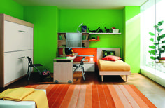 Colorful Kids Rooms. I think the greens is too bright though but it is still awesome.