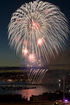 Fireworks over Lake Union (Seattle, Washington)