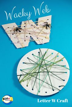letter W craft: Wacky web