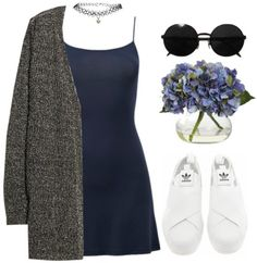 Minus the choker Spring Outfits, Trendy Outfits, Fashion Outfits, Womens Fashion, Date Outfit Casual, Casual Dresses, Moda Emo, Look Vintage, Polyvore Outfits