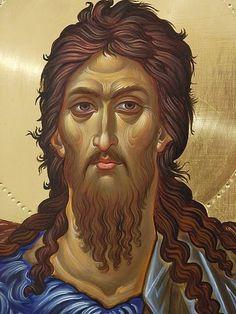 St John the Baptist Byzantine Icons, Byzantine Art, Christian Images, Christian Art, Religious Icons, Religious Art, Religion, John The Baptist, Spirituality