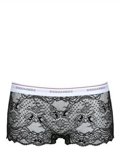 DSQUARED UNDERWEAR - LACE BOY SHORTS - LUISAVIAROMA - LUXURY SHOPPING WORLDWIDE SHIPPING - FLORENCE
