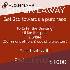 TAG MORE POSHERS TO GET 2 EXTRA ENTRIES !! Make purchases for 3 extra entries!! kate spade Accessories