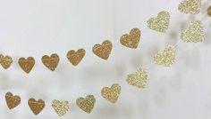 gold heart banner