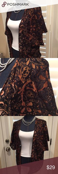 Billabong designer closet bevy kimono top Billabong designer closet bevy kimono top good preloved condition navy/orange Billabong Jackets & Coats