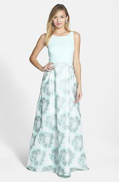 Aidan Mattox Jacquard Ballgown available at #Nordstrom