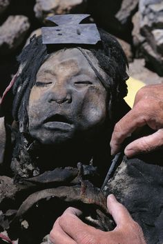 Isn't this just the most amazing? Frozen Inca mummy goes on display. [Also repinned from a pretty interesting board - of Matthew Skinner). See discovery of this mummy in 1999 by Yohan Rinehart: http://www.youtube.com/watch?v=nJv0_Oz59W4