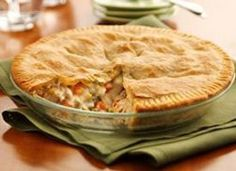 Classic Chicken Pot Pie - I've made this recipe for years. I add potato chunks and use Pillsbury pie crust. I put it in a casserole dish because a pie plate is never deep enough.