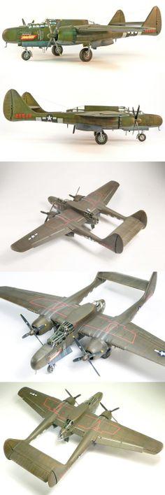 1/48 Northrop P-61A blackwidow • http://www.network54.com/Forum/47751/message/1392146072/1-48+Northrop+P-61A+blackwidow