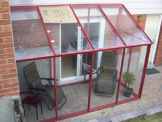 """DIY temporary sun room ... with plastic shower curtain """"windows"""" For the renters in NYC with a little outdoor space...."""