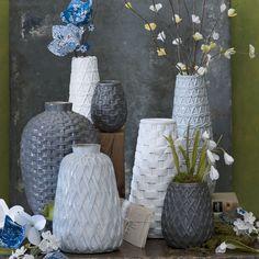 Ceramic woven vases