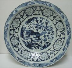 blue and white porcelain bowl from Yuan Dynasty