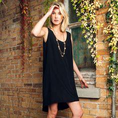 SALE! Silk singlet dress in black was $239 now $75