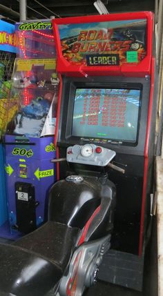 Road Burners Sit Down Motorcycle Riding Arcade Video Game Available