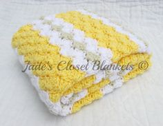 Crochet Baby Blanket Baby Blanket Crochet by JadesClosetBlankets