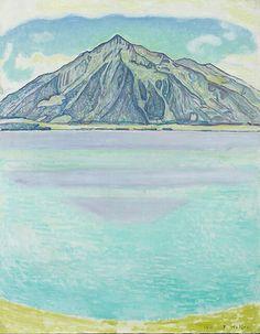 Hodler lake thun with the niesen 1910