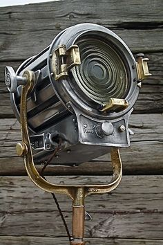 """Have a slight obsession with studio and spotlights!  """"Vintage Mole-Richardson industrial spotlight."""""""