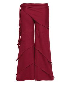 Look at this Cranberry Waves of Freedom Pants on #zulily today!