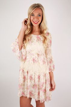 This dreamy dress was made for sunshine and sipping lemonade on Sunday afternoons!