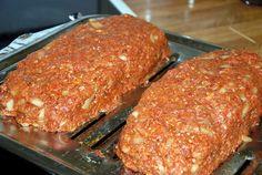 Recipe: Paleo Meatloaf 3 pounds ground beef 1 cup almond flour 3 eggs 1 medium onion, chopped 1 clove garlic, minced 2 TBSP mustard 1 TBSP chili powder 1.5 Tbsp garlic salt 3 Tbsp tomato paste 1/4 c Canned Coconut milk 2 Tbsp olive or avocado oil