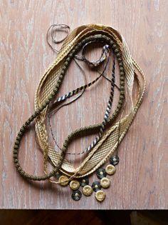 DIY necklaces on Martha Stewart blog