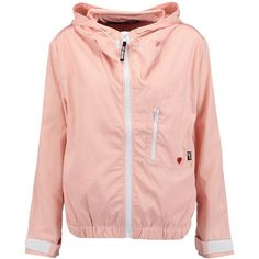 Love Moschino Shell hooded jacket ($160) ❤ liked on Polyvore featuring blush and love moschino