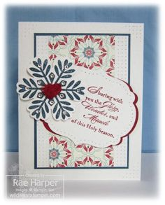 Bold Snowflake by RaeInReno - Cards and Paper Crafts at Splitcoaststampers
