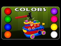 Learn Colors for Children and Kids with Colors Ship Toy | Learning Colour Names by Crazy Kids Rhymes - YouTube