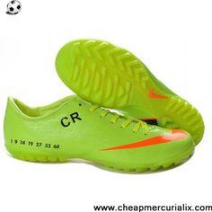 Low Price Green Orange Black Limited Edition Nike Mercurial Victory V CR7  TF Futsal Football Shoes 87a14858e08cd