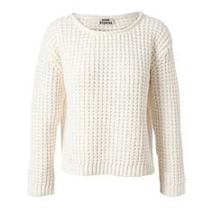 ACNE 'sapata' Cotton Fisherman Jumper ($345) ❤ liked on Polyvore