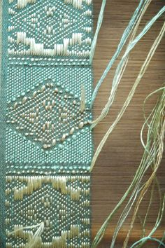 pale greens and gold diamond pattern