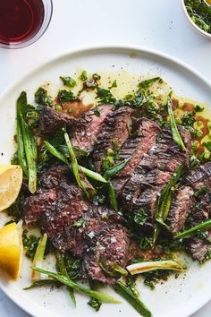 NYT Cooking: Butcher's steak is the name of a specific cut of steak, also know. NYT Cooking: Butcher's steak is the name of a specific cut of steak, also known as hanger steak ( Hanger Steak, Seared Salmon Recipes, Pan Seared Salmon, Skirt Steak Recipes, Beef Recipes, Grill Recipes, Green Salsa, Tomato Cream Sauces, Salsa Verde