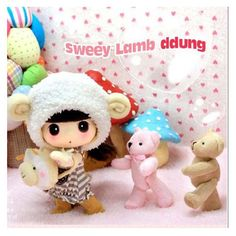 Collection DDUNG Doll  Sweety Lamb ddung Doll Kid Toy Children Girl Friend Gift