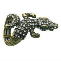 Guess Alligator Crocodile Flexable Ring