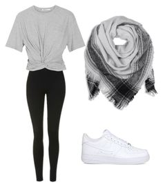 """""""😁😁"""" by gomezalonsovega on Polyvore featuring moda, Topshop, T By Alexander Wang y NIKE"""