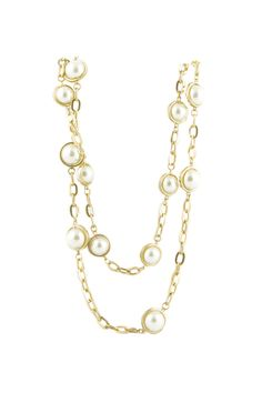 POSH PEARL - Long Gold Fashion Necklace - Shop Simply Me Boutique – Simply Me Boutique