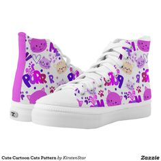 Cute Cartoon Cats Pattern Printed Shoes