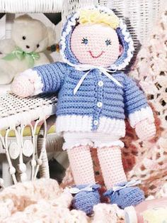 Crochet for Babies & Children - Accessories to Crochet for Kids - Playtime Baby Doll