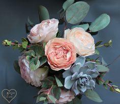 """Букет """" Princess Jardinen"""". Выполнен на заказ.(цветы из зефиргого фоамирана, зелень из иранского фоамирана)"""