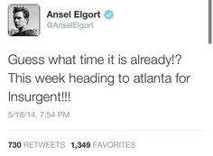 FILMING FOR INSURGENT IS ABOUT TO BEGIN!!!! OMG!!! // divergent // insurgent // allegiant