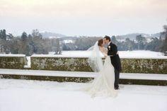 Winter wedding shot.